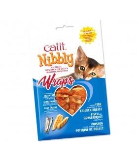 CATIT Nibbly Wraps Premios para gato - Bones Companyies