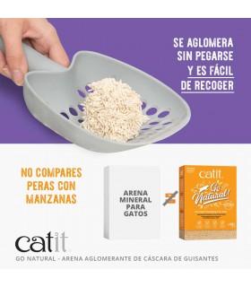 CATIT Lecho de Cáscara de Guisante Go Natural - Bones Companyies